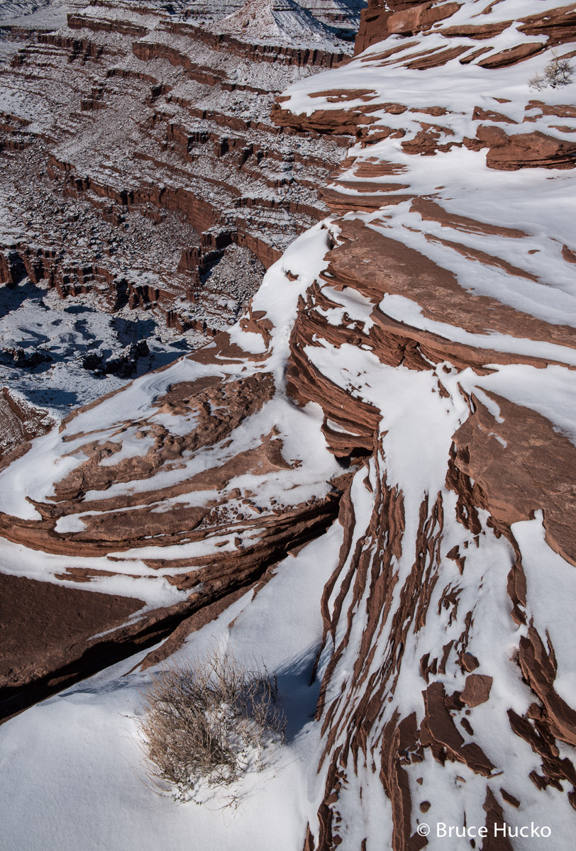 Dead Horse Point,Dead Horse Point State Park,Dead Horse Point State Park winter,Dead Horse Point winter,winter ice, photo