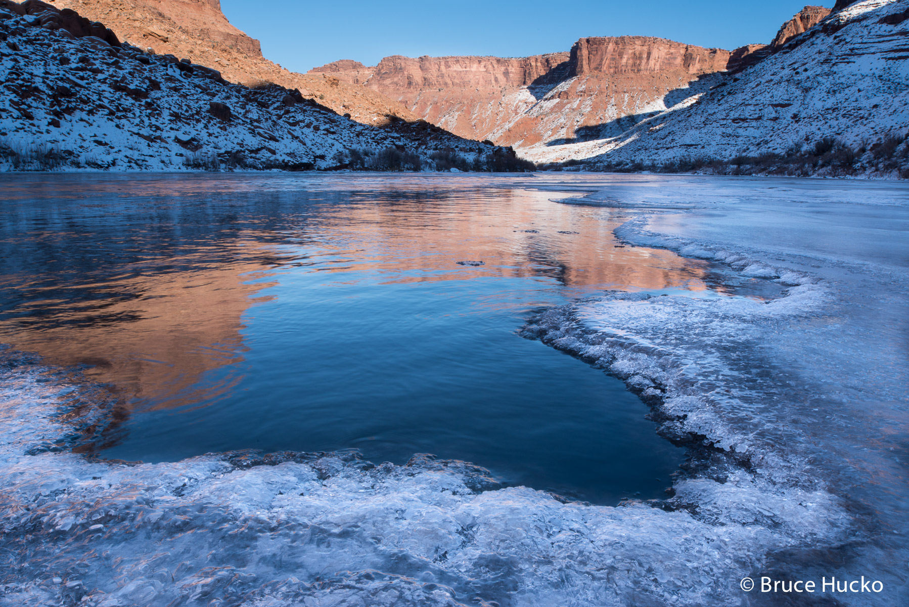 Colorado River Ice,desert ice,ice, photo